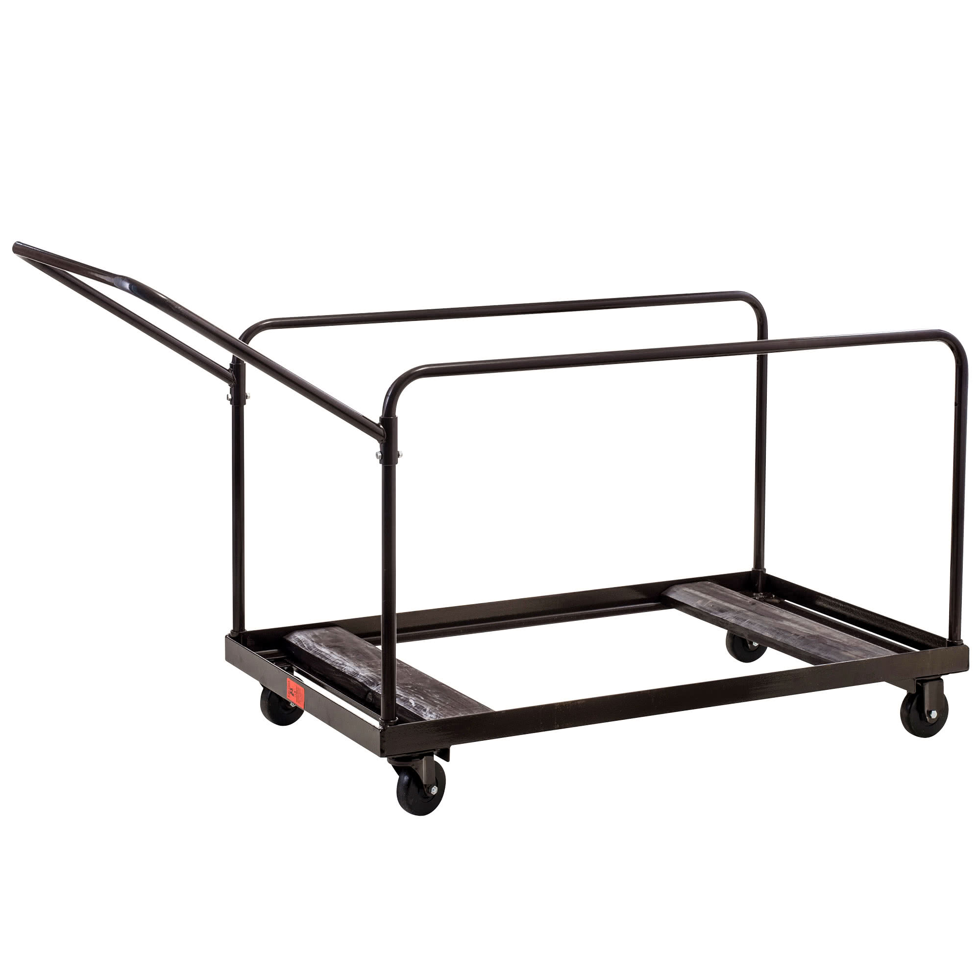 National Public Seating DYMU Multi-Use Dolly Cart Folding Table Caddy Round or Rectangle Tables