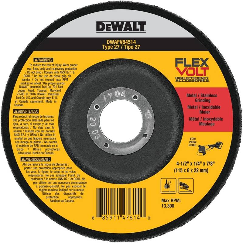 Dewalt 0801803 4.5 x 0.25 x 0.87 in. Grinding Wheel