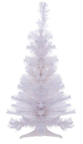 The Perfect PVC-2W 2 ft. PVC Christmas Tree, White