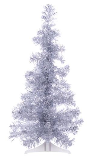 The Perfect PVC-2SV 2 ft. PVC Christmas Tree, Silver