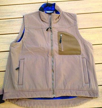 Dutch Harbor Gear DF303-L Mens Full Zip Vest, Navy - Large