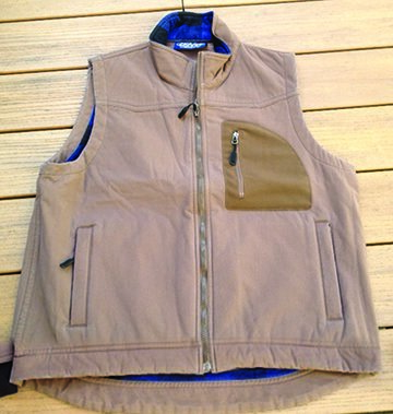 Dutch Harbor Gear DF303-XL Mens Full Zip Vest, Navy - Extra Large