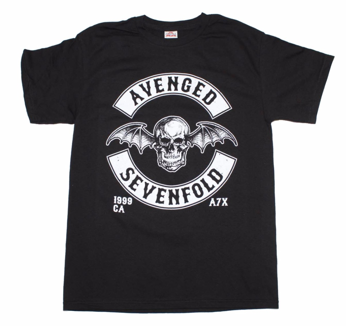 Live Nation Merchandise LNM-7A153-S Avenged Sevenfold Deathbat Crest Adult Mens T-Shirt, Black - Small