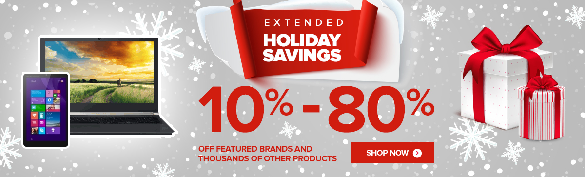 Check Out Our Extended Holiday SavingsClick On The Brands To See Extra Savings