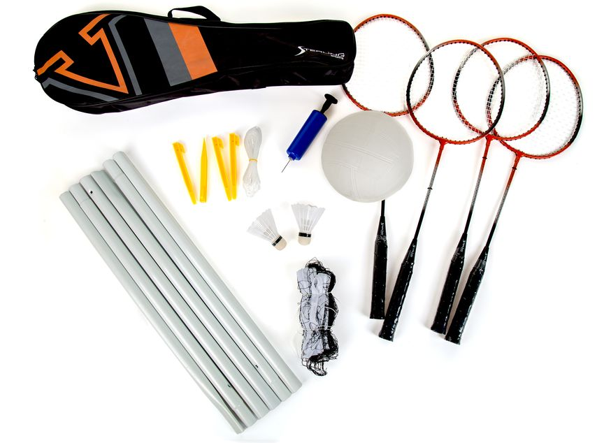 Sterling Sports 4228RA Badminton & Volleyball Combo Set