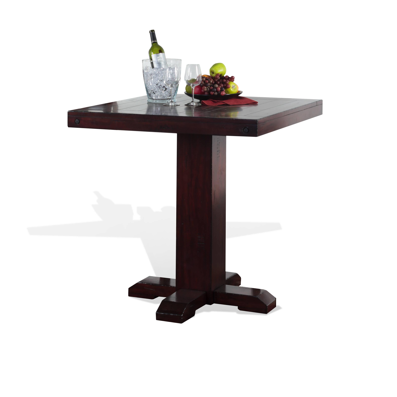42 x 36 x 36 in. Tuscany Wood Adjustable Height Pub Table - Vintage Mocha - Sunny Designs 1377VM-T