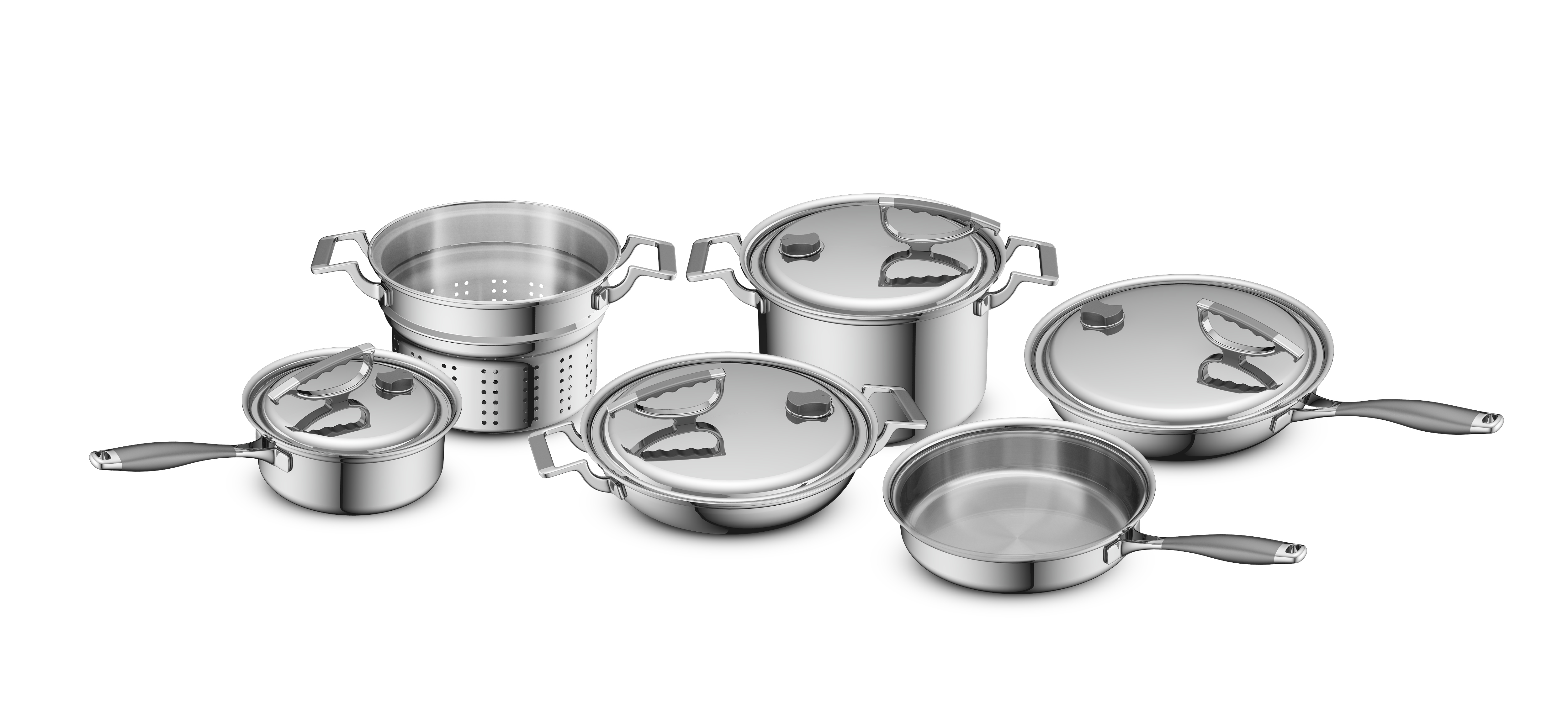 CookCraft CC-10PC-3006 Tri-Ply Stainless Steel Set - 10 Piece