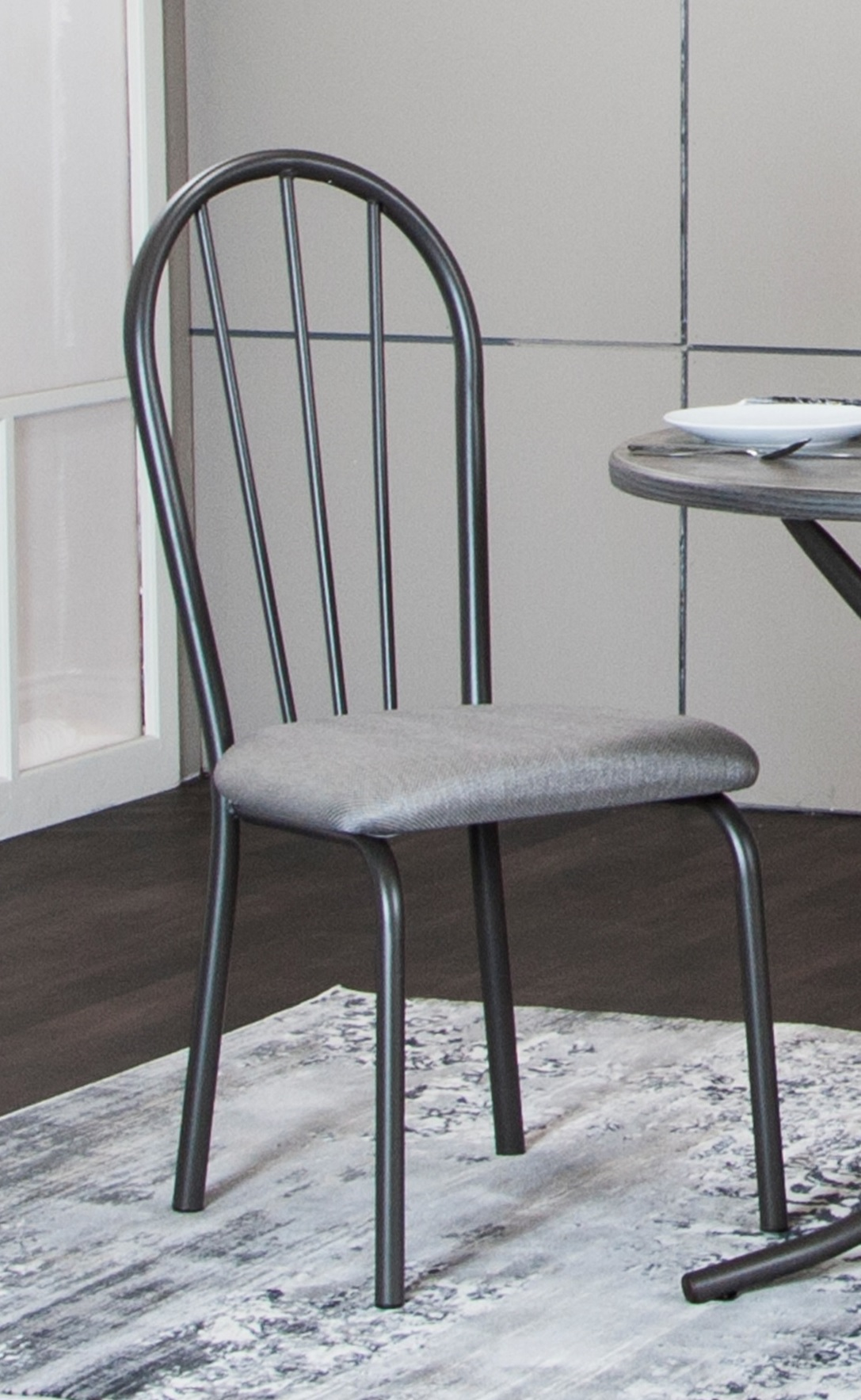 Sunset Trading CR-D8719-03-2 Steel Gray Dining Chair, Set of 2