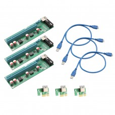 SYBA Multimedia SI-PEX60017 PCI-E x1 to Powered x16 Riser Adapter Card USB 3.0 Extension Cable