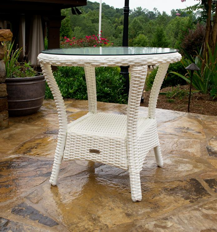 Tortuga BAY-SIDE-MAGNOLIA 23 x 24 x 24 in. Bayview Side Table - Magnolia