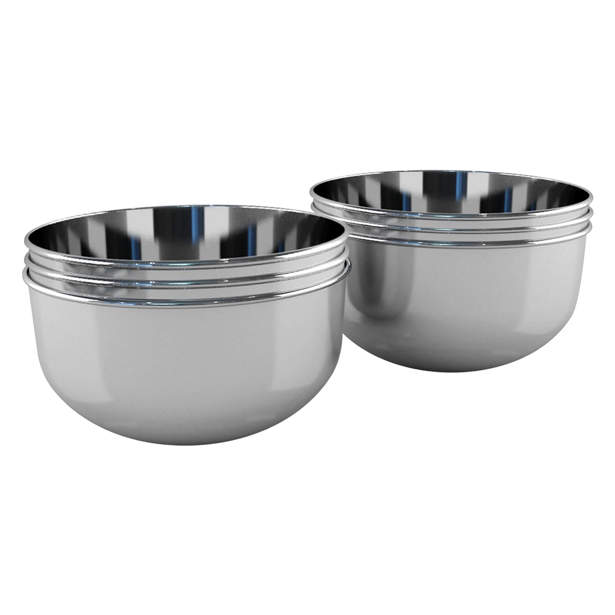 NuSteel TG-CC-6H Stainless Steel Condiment Cups  Set of 6 TTRA1441