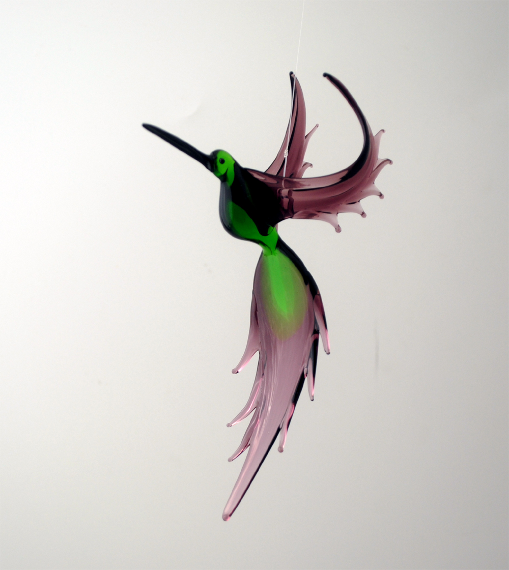 WGK Glass Art 36-210 Green Humming Bird - Green