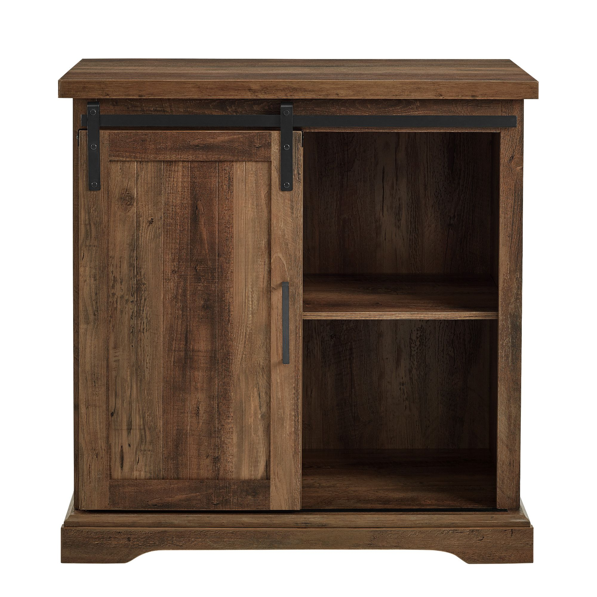 Walker Edison Furniture AF32ALGRDRO 32 in. Modern Farmhouse Buffet Rustic Oak
