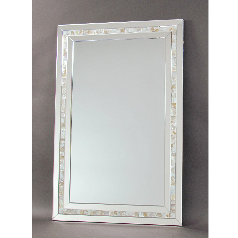 Wayborn MR332 Mother of Pearl Beveled Accent Mirror