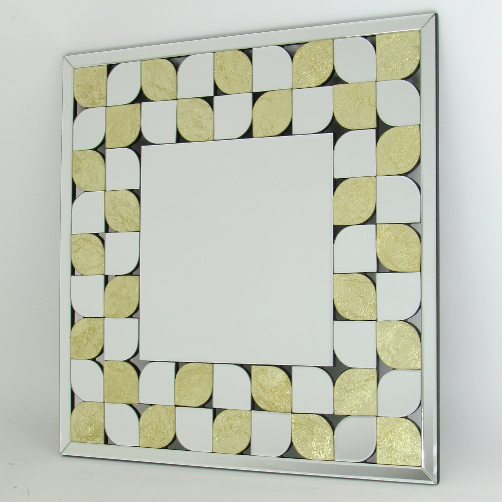 Wayborn MR311 Beveled Square Accent Mirror in Gold