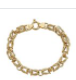 YGI FMB4008Y-7.5 14K Gold Yellow 7 mm. Hollow Byzantine Pol & Tex Bracelet - 7.5 in.