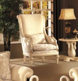 Myco Furniture AV7130-A Avignon Swan Arm Chair