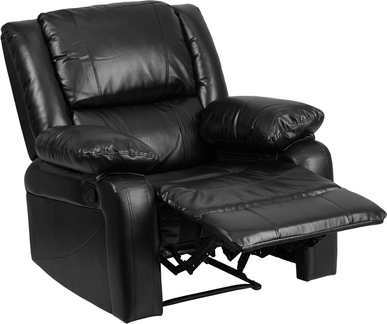 Harmony Series Black Leather Recliner admn101
