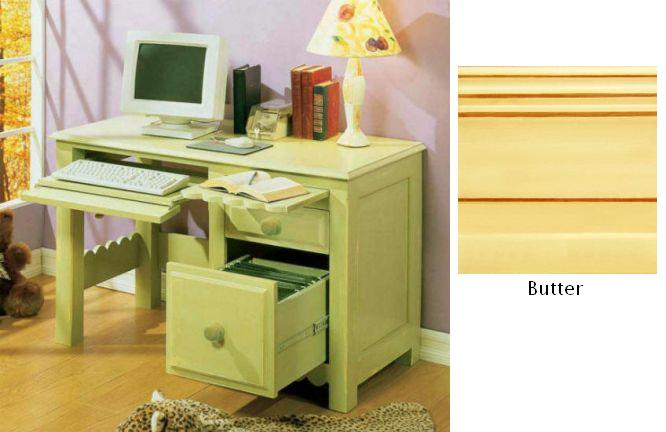 Alligator Enterprises 112301SCBU Scallop Desk in Butter