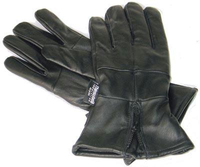 Diamond Plate GFGLCUFM Leather Cuffed Gloves- M