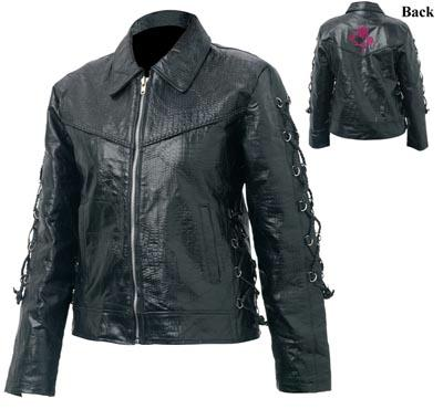 Giovanni Navarre GFROSEXL Giovanni Navarre Ladies Black Buffalo Leather Jacket - XLarge at Sears.com
