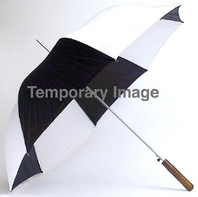 All-Weather 48 Inch Auto Open Umbrella - Black / White