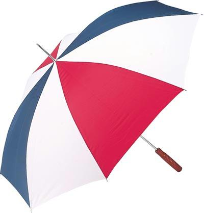 All-Weather 48 Inch Auto Open Umbrella - Red / White / Blue