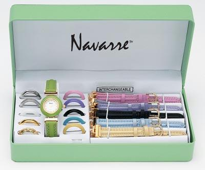 Navarre JELWAT Navarre Ladies' Watch with Interchangeable Bands and Faces