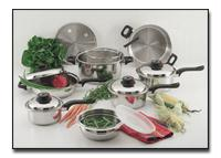 Chef KT915 15 Pieces Stainless Steel Cookware Set