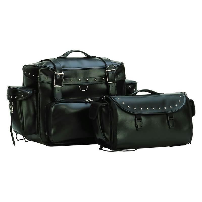 Diamond Plate LUMTOUR 2Pc Motorcycle Tour Bag