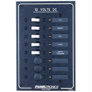 PANELTRONICS 9972204B PANELTRONICS STANDARD DC 8 POSITION BREAKER PANEL with LED s