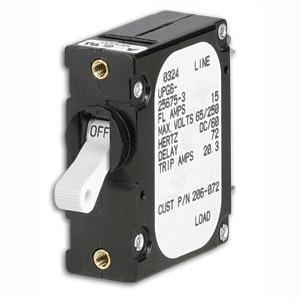 PANELTRONICS 206-073S Paneltronics FootA Foot Frame Magnetic Circuit Breaker - 20 Amps - Single Pole