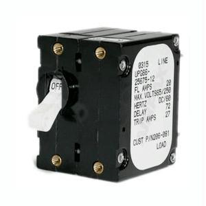PANELTRONICS 206-078S Paneltronics FootA Foot Frame Magnetic Circuit Breaker - 5 Amps - Double Pole