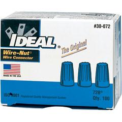 IDEAL 30-072 IDEAL 72B Blue Wire Connector Box of 100