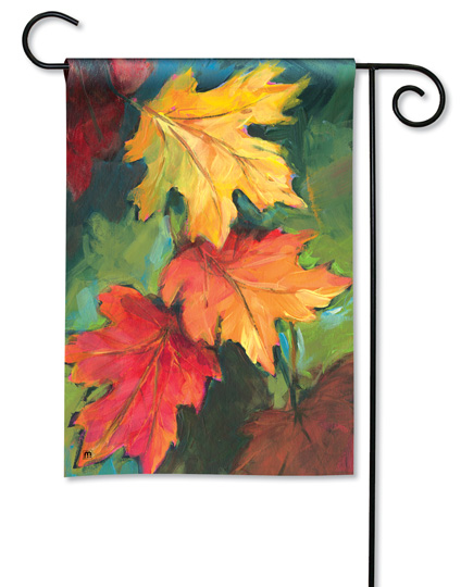 Shop for Fall leaves and Autumn Harvest garden flags, door mats and personalized holiday towels