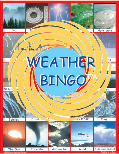 Lucy Hammet Bingo Games LH4277 Mart Weather Bingo Educational Game