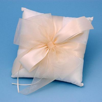 Beverly Clark 38BI Tres Beau Wedding Ring Bearer Pillow in Ivory