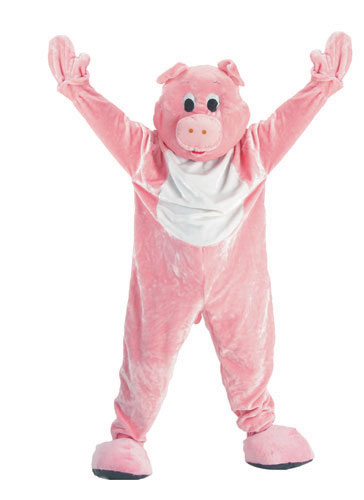 Dress Up America 303-Adult Adult Pig Mascot Costume Set - Adult