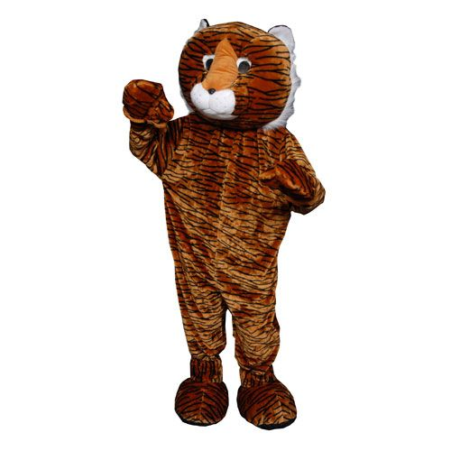 Dress Up America 354-Adult Tiger Mascot Costume - One Size Fits Most