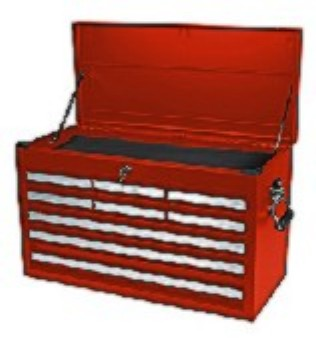 Homak RD02092601 27 Inch Professional Red 9 Drawer Top Chest