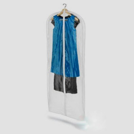 Honey-Can-Do SFT-01258 Dress Bag - Polyester and Clear PVC