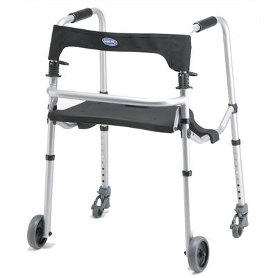invacare WalkLite Small Short Rollator Walker Folding w/ Seat
