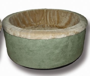 K and H 3193 Thermo-Kitty Bed 16 Inch Diameter - Sage