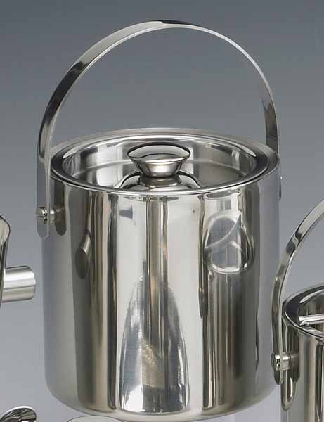 Kraftware Brushed Stainless Steel 1 Quart Doublewall Insulated Ice Bucket