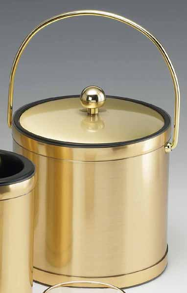 Kraftware Mylar Brushed Brass 3 Quart Ice Bucket