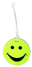 Lewis N Clark ID99YEL Smiley Face Rubber Luggage Tag-Yellow
