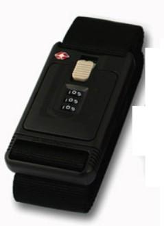 Lewis N Clark TSA228BLK Travel Sentry 3-Dial Combination Luggage Belt - Black