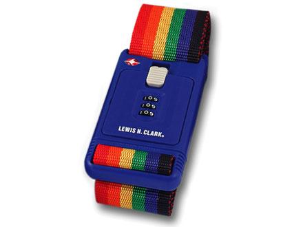 Lewis N Clark TSA228RNB Travel Sentry 3-Dial Combination Luggage Belt - Rainbow