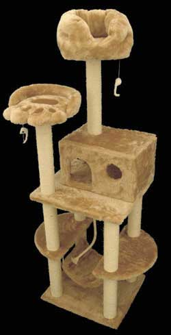 Majestic MAJ76C 76 Inch Casita Cat Tree Fur Covering
