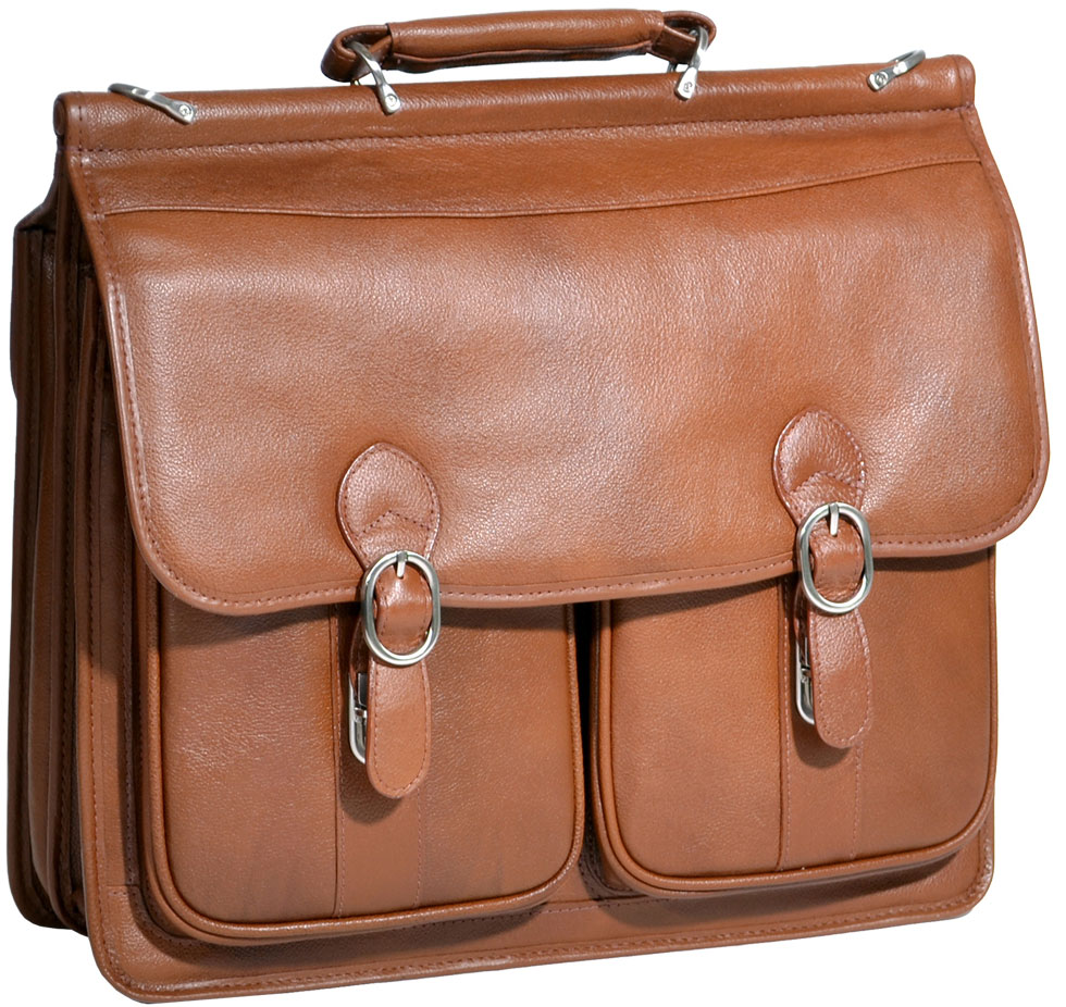 Mcklein  15604 Hazel Crest S Series Leather Laptop Case - Brown